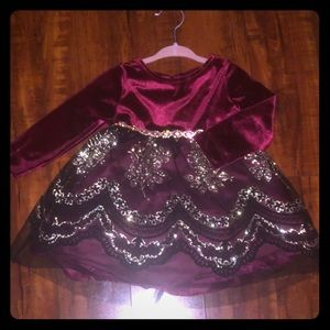 Rare Editions Baby Girl Holiday Dress 12 month